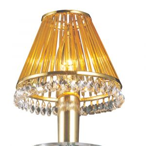 Diyas IL30500 Crystal Clip-On Shade With Amber Glass Rods French Gold/Crystal