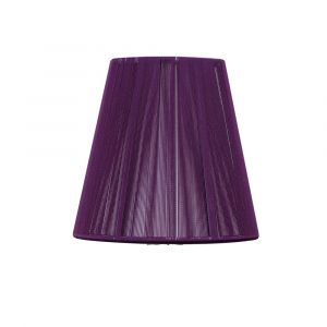 Mantra MS011 Clip On Silk String Shade Aubergine 80/130mm x 110mm