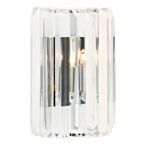 DAR SKE0750 Sketch Single Wall Light Crystal/Polished Chrome Finish Switched