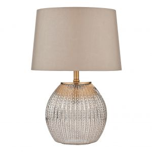 DAR SON4232 Sonia Double Table Lamp Silver Finish