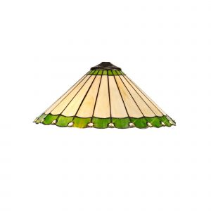 Nu Derham Tiffany 40cm Shade Only Suitable For Pendant/Ceiling/Table Lamp, Green/CCrain/Crystal