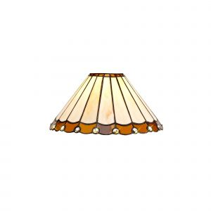 Nu Derham Tiffany 30cm Non-Electric Shade, Amber/CCrain/Crystal