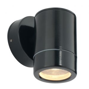 Saxby ST5009BK Odyssey Single IP44 Outdoor Wall Light Satin Black Finish