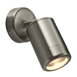 Saxby ST5010S Odyssey Single IP65 Outdoor Adjustable Wall Light Brushed Stainless Steel Finish