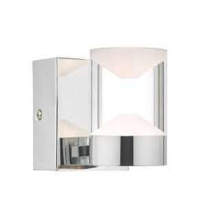 Dar SUS0750 Susa Single Bathrrom Wall Light Polished Chrome/Acrylic LED Finish