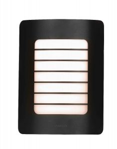 Stanley SXLS29318BE Aragon Outdoor IP44 Rectangular Wall Light Black Finish 1xE27