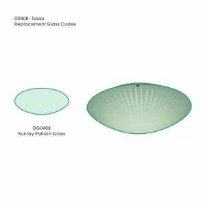 Deco DG0408 Tassa Replacement Medium Sunray Pattern Glass For D0408