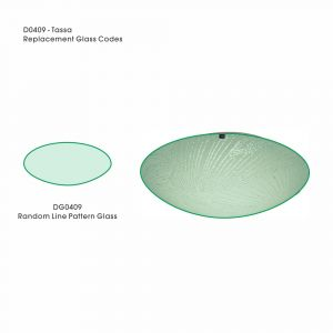 Deco DG0409 Tassa Replacement Small Random Line Pattern Glass For D0409