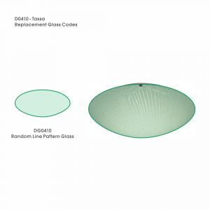Deco DG0410 Tassa Replacement Medium Random Line Pattern Glass For D0410