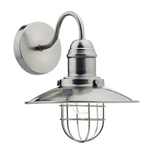 DAR TER0761 Terrace Single Wall Light Antique Chrome/Clear Glass Finish