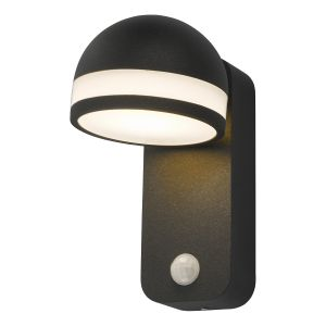 Dar TIE1539 Tien Single Wall Light Outdoor Anthracite Sensor LED Finish