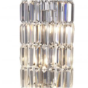 Diyas IL30070 Torre Crystal 1 Meter Polished Chrome