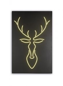 Trazos Deer Picture Wall Lamp, 28W LED, 4000K, lm, Matt Black, 3yrs Warranty