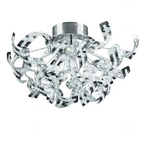 Twist 12lt Flush Polished Chrome IP20 Modern Ceiling Lights