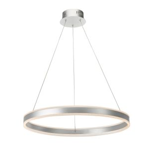 Dar TYB0132 Tybalt Single Pendant LED Silver/Acrylic Finish