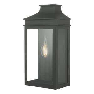 Dar VAP5222 Vapour Single Bathroom Wall Light Black Finish