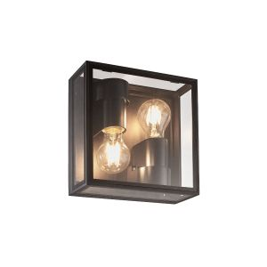Verbier Up/Down Ceiling/Wall Lamp, 2 x E27, IP65, Dark Grey, 2yrs Warranty