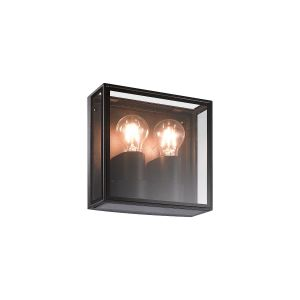 Verbier Vertical Wall Lamp, 2 x E27, IP65, Dark Grey, 2yrs Warranty