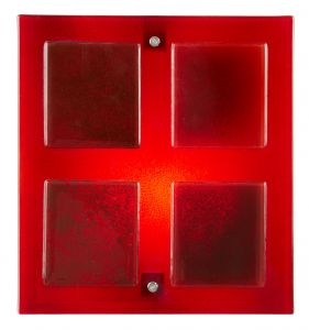 Endon VERNER-1WBRE Red Glass Wall Bracket 1 Light In Glass