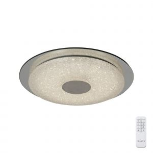 Virgin Sand Ceiling 45cm Round 18W LED 2700-6500K Tuneable, 1680lm, Remote Control White/Diamond, 3yrs Warranty