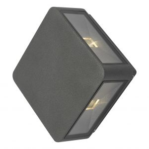 Dar WEI2139 Weiss 4 Light Wall Light LED Anthracite Finish