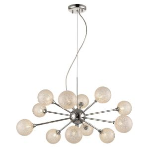 Tricot 12 Light Pendant G9 Double Insulated, Dimmable, Adjustable Clear