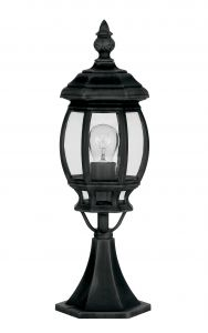 Endon YG-0922 Post Top Black 1 Light In Metal