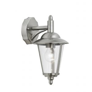 Klien Single  Down Outdoor Wall Light Stainless Steel/Clear Finish