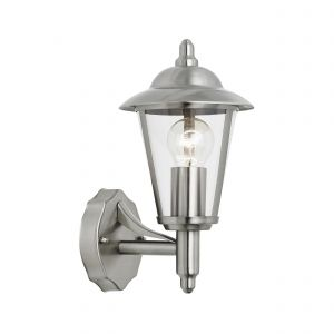 Klien Single Outdoor Wall Light Stainless Steel/Clear Finish