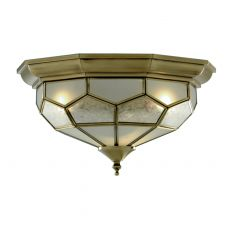 1243-12 FLUSH ANT/BRASS LEADED C/FTG 29cm
