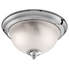 4042 Flush American Diner - 2 Light IP44 Ceiling Flush, Chrome, Acid Glass