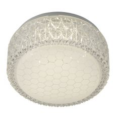 5750-28 LED Flush Fitting, Honeycomb Pattern Shade