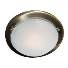 702AB Flush Ant/Brass 30Cm Flush C/Fitting