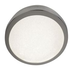 8100-40CC LED Flush Ceiling Light, Diameter 40Cm, Chrome And Crystal Sand, IP44